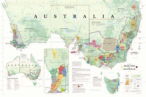 wijnkaart Australië plattegrond