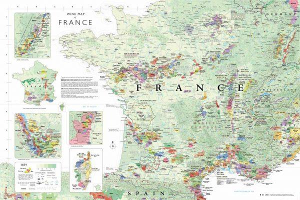 opvouwbare kaart Frankrijk