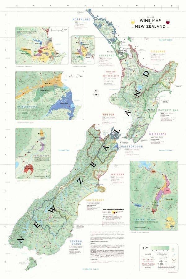 NIEUW-ZEELAND wijnkaart