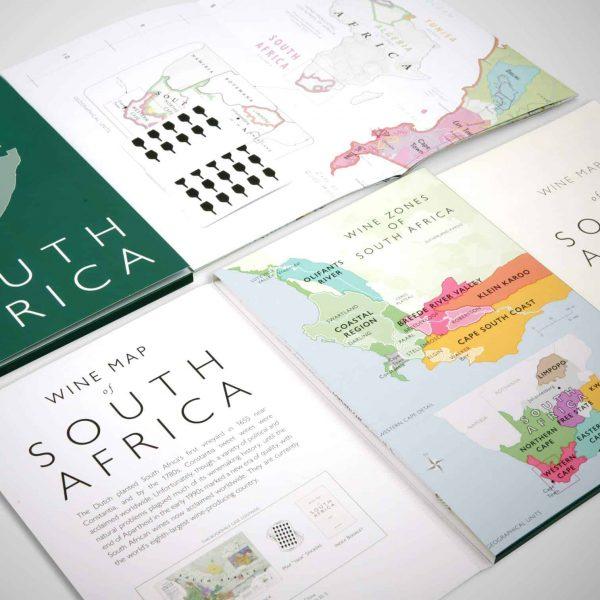 zuid-afrika vouwbare wijnkaart