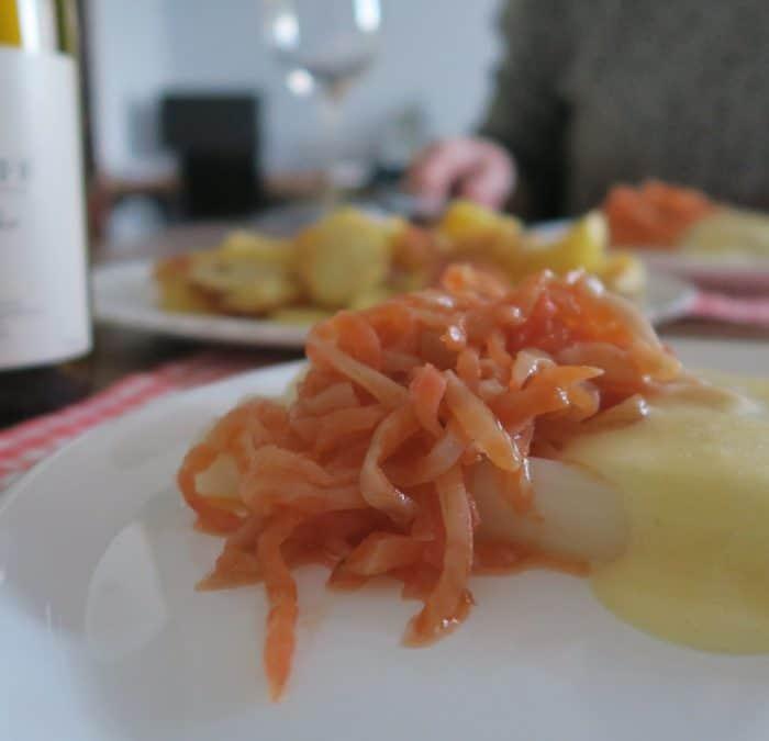 Lievelingsgerecht: asperges, zalm & pinot blanc