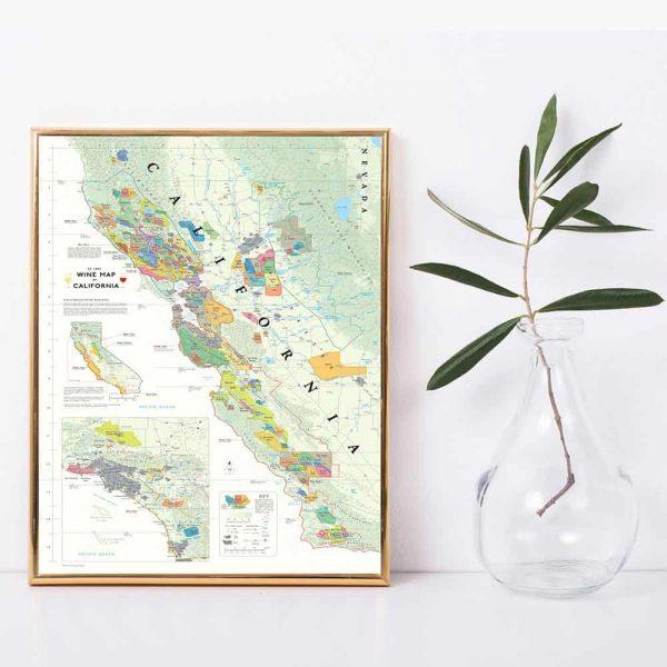 wijnkaart van Californië