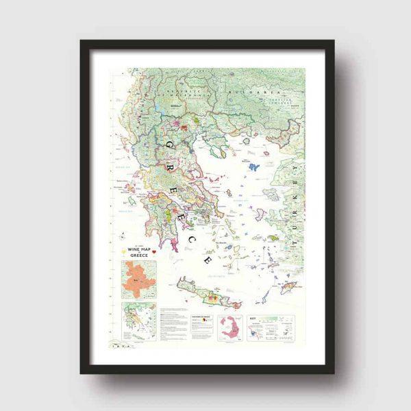 griekenland wijnkaart poster