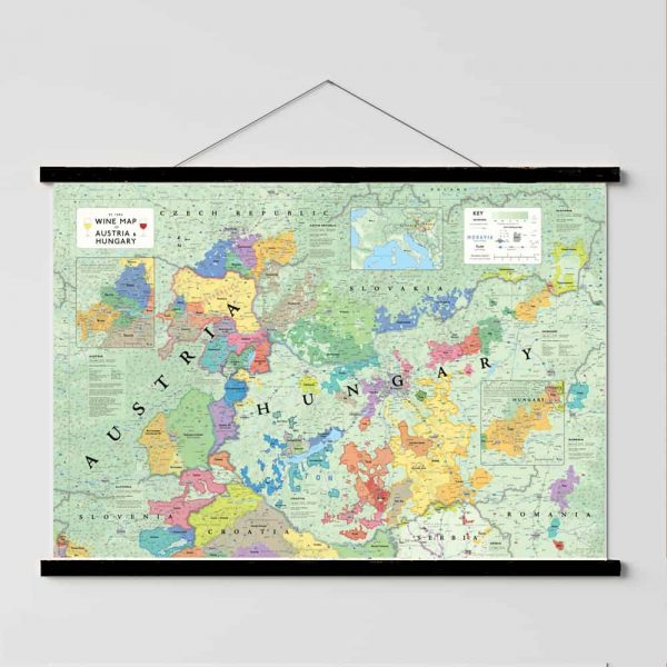 wijnkaart poster oostenrijk hongarije