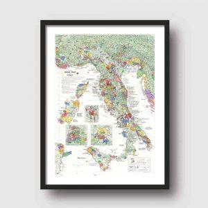 wijnkaart italie poster