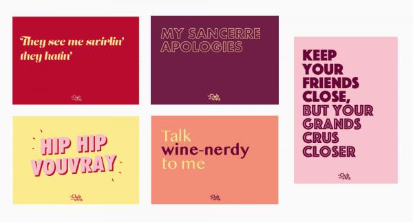 ansichtkaarten wijn