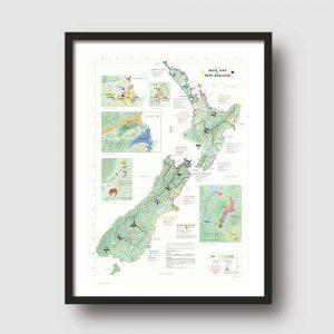 nieuw-zeeland poster wijnkaart