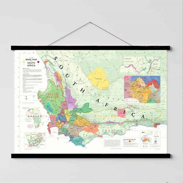 wijnkaart zuid-afrika