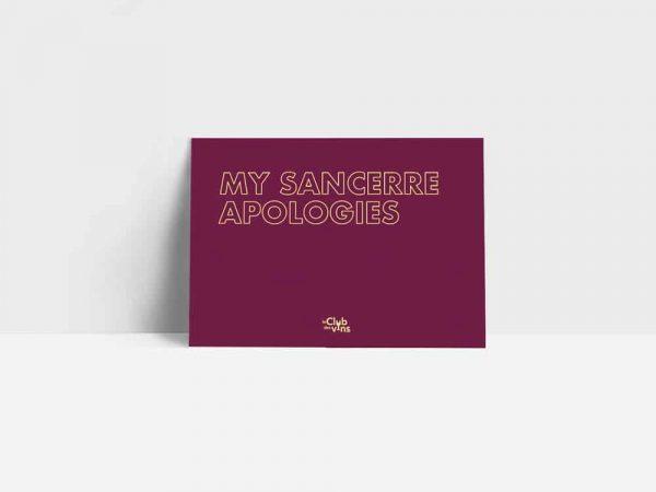 ansichtkaart my sancerre apologies
