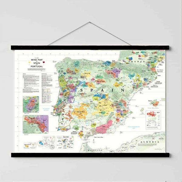 wijnkaart poster spanje portugal