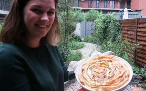 Vegetarische tip: spiral pie met crozes hermitage
