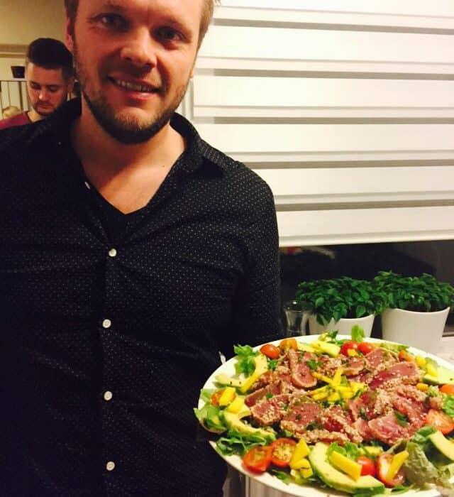 Wijnspijs: Tropische tonijnsalade  van Bastiaan