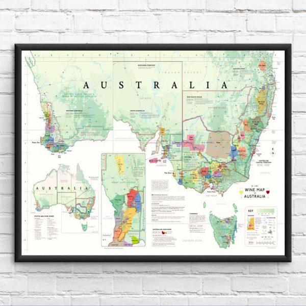 wijnkaart australie
