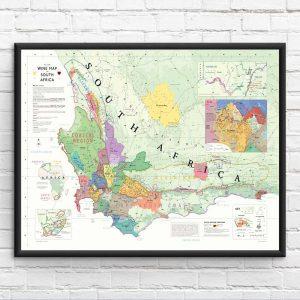 zuid-afrika wijnkaart poster
